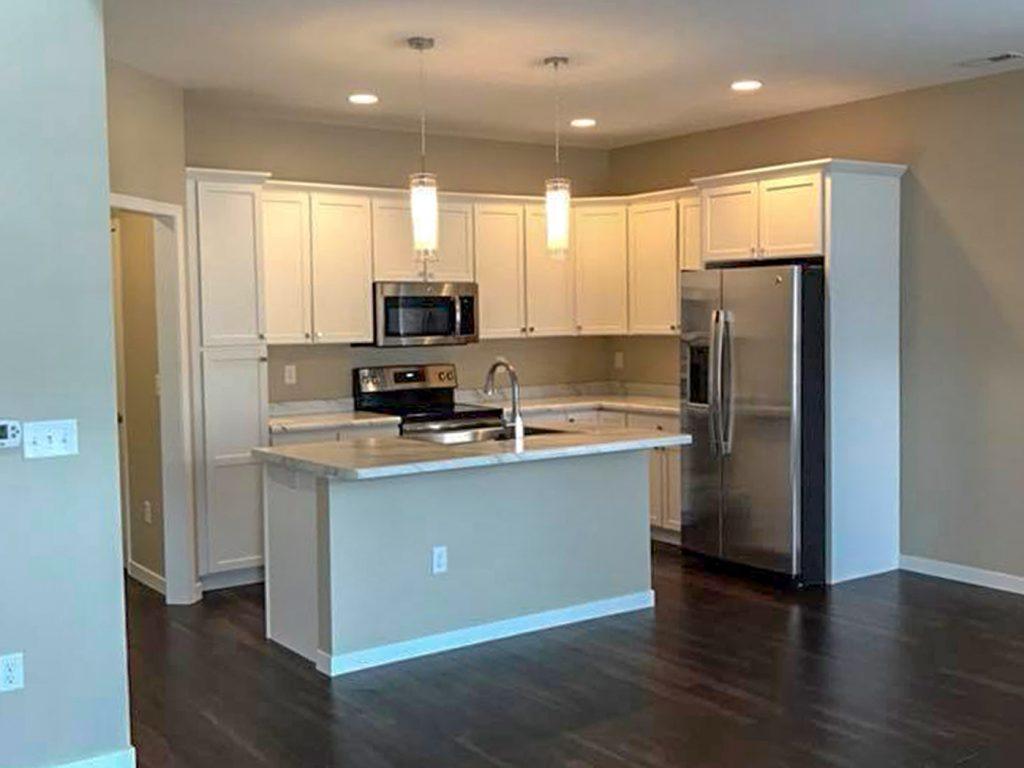 SGA Construction new white interior kitchen