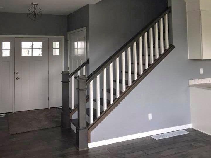 SGA Construction new home interior staircase