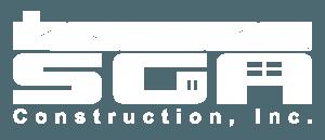 SGA Construction logo white